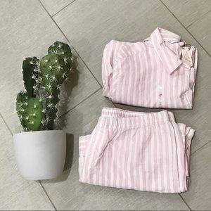 Pink striped Victoria's Secret Pajama Set